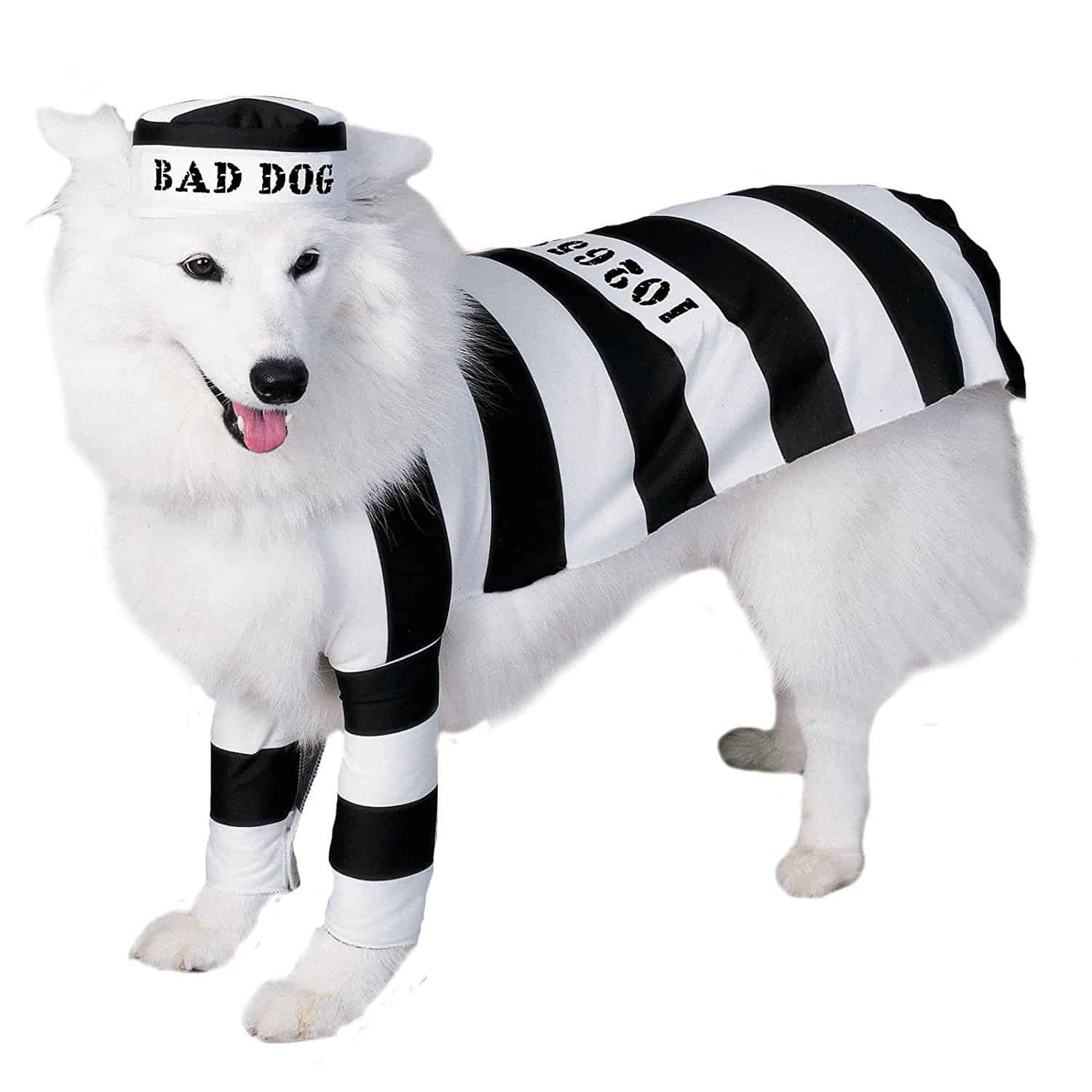 Black and White Dog Prison Costume