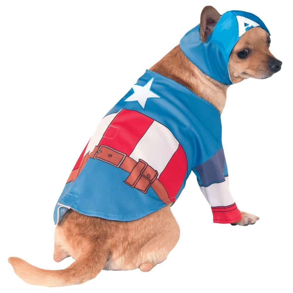 Captain America Chihuahua Dog Costume