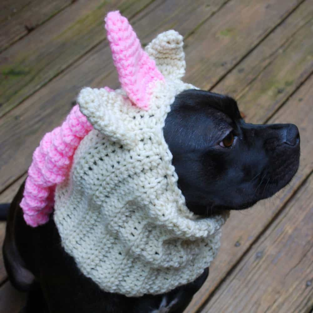 Dog Snood Pink Unicorn Costume