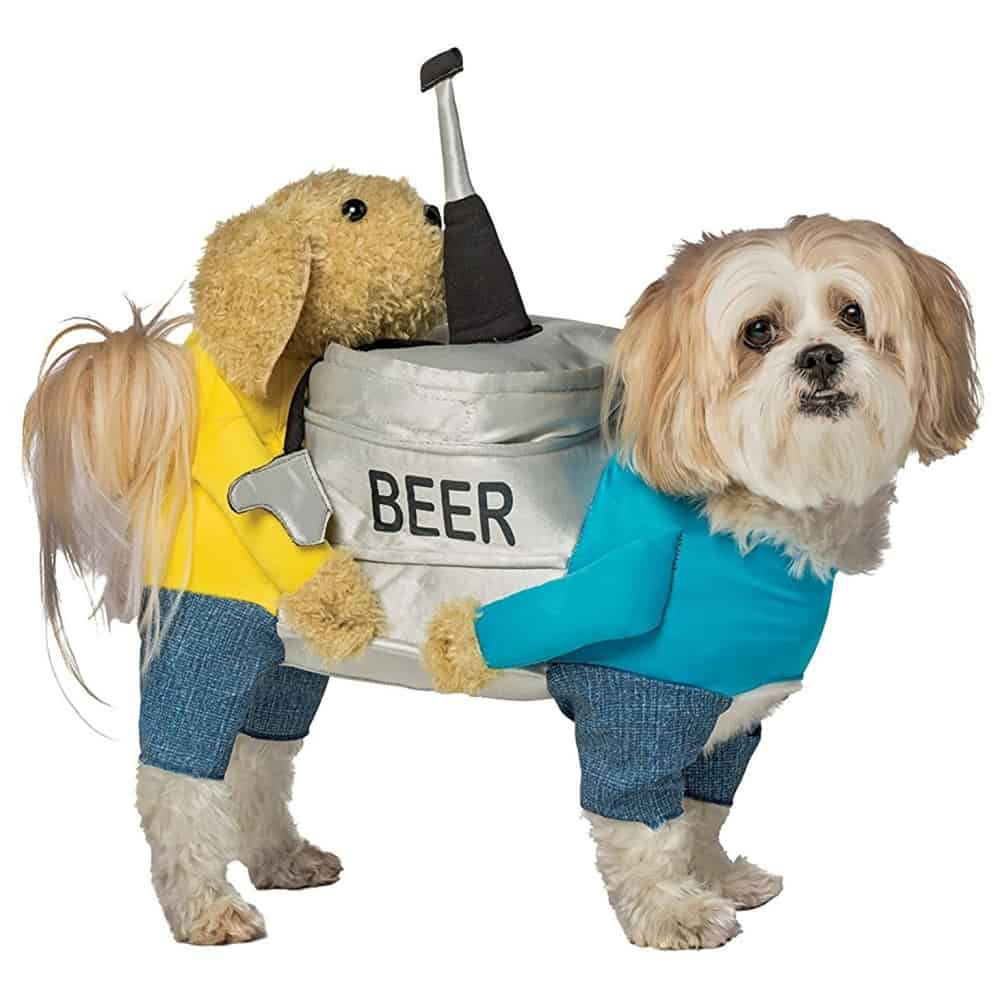 Dogs Carrying a Beer Costume