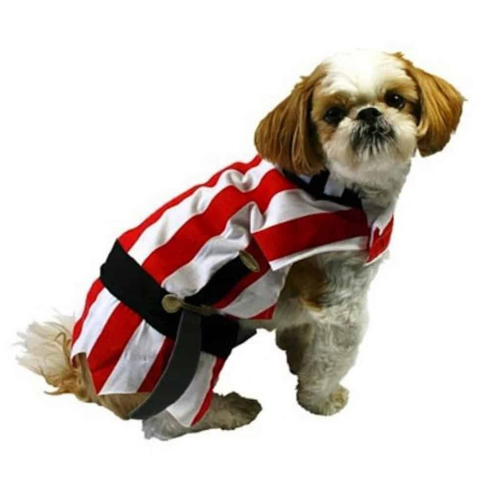 Pirate Dog Costume Red Striped