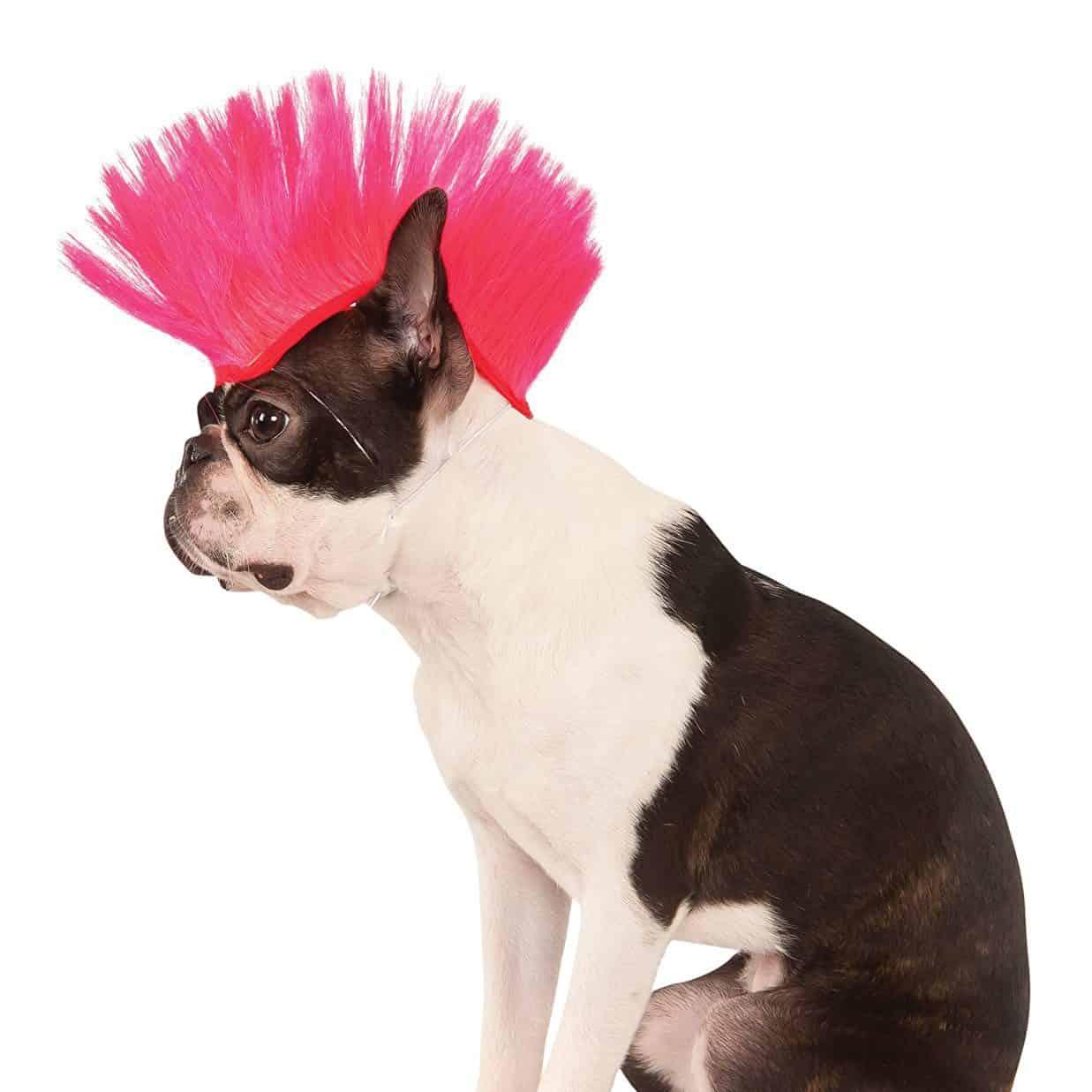 Rubies Costume Company Pink Mohawk Pet Wig