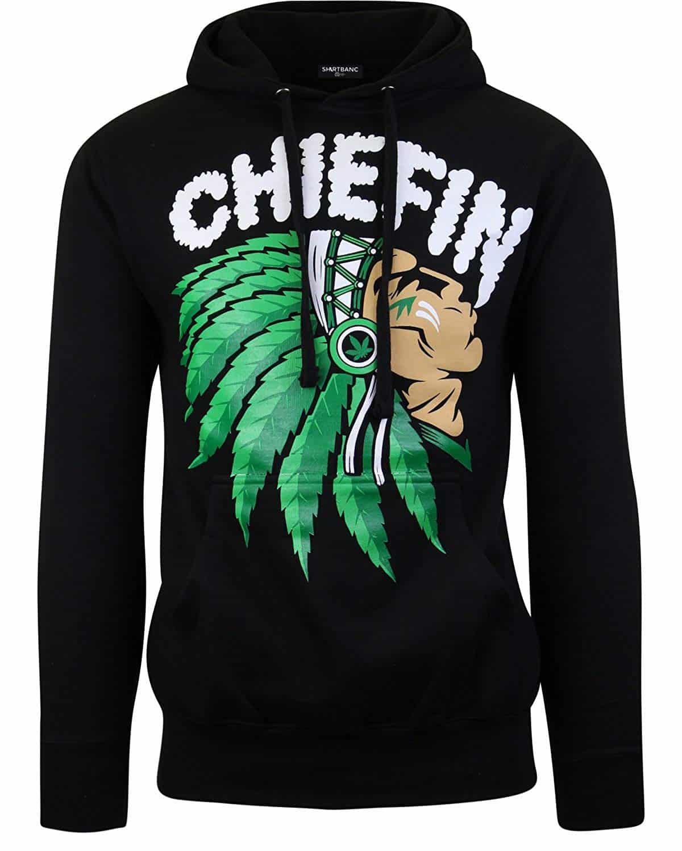 Men Hoodies Chiefn Smoke Weed Sweater