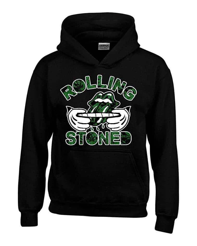 Men Hoodies Rolling Stoned Weed Pattern