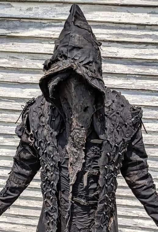 Men Hoodies The Executioner Post Apocalyptic Black metal Ritual Costume