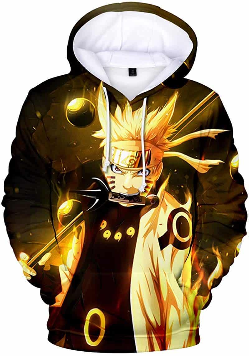Men Hoodies Sweatshirt Outerwear Japanese Anime Naruto
