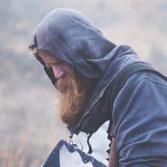 Badass Hoodie Warrior's Medieval Hood