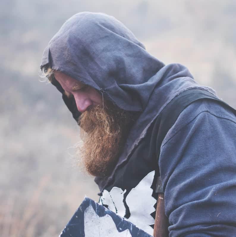Men Hoodies Warrior's Medieval Hood