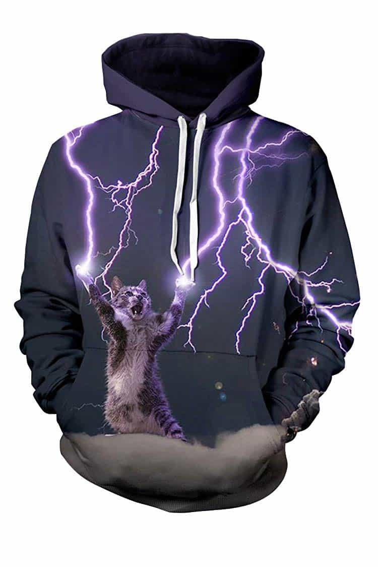 Men Hoodies & Sweatshirts Cat Conjur Lightning