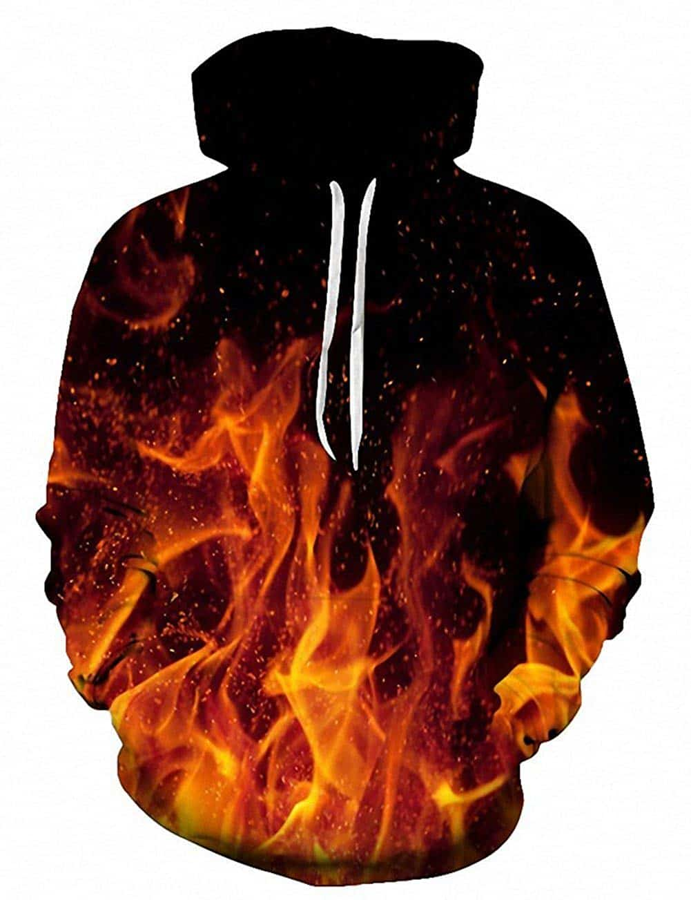Men Hoodies & Sweatshirts Red Fire