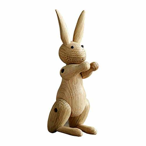 Alikeke Wooden Rabbit Flexible Sculpture
