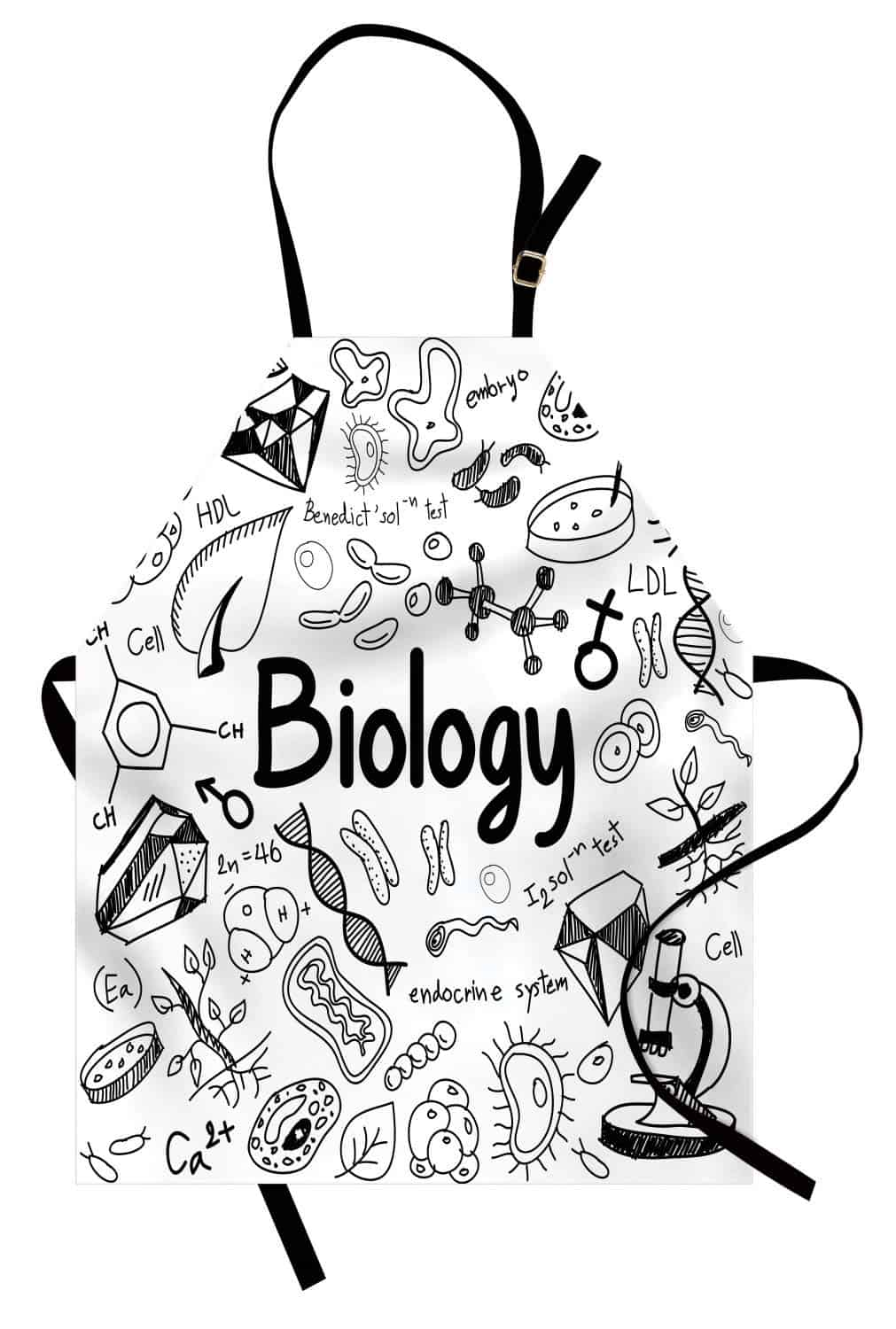Ambesonne Biology Doodle White Apron