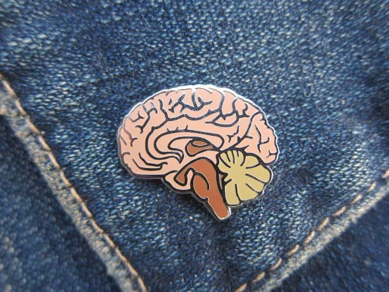JimClift Brain Enamel Lapel Pin