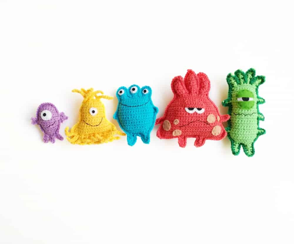 Tery Toys Crochet Microbe Monsters