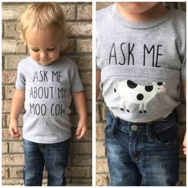 Toddler Shirt Ask Me About My Moo Cow