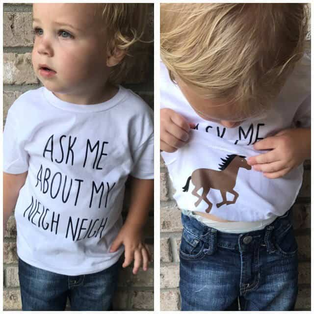 Toddler Shirt Ask Me About My Neigh Neigh