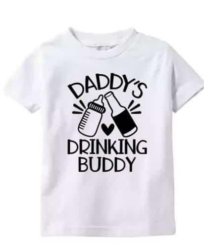 Toddler Shirt Daddys Drinking Buddy