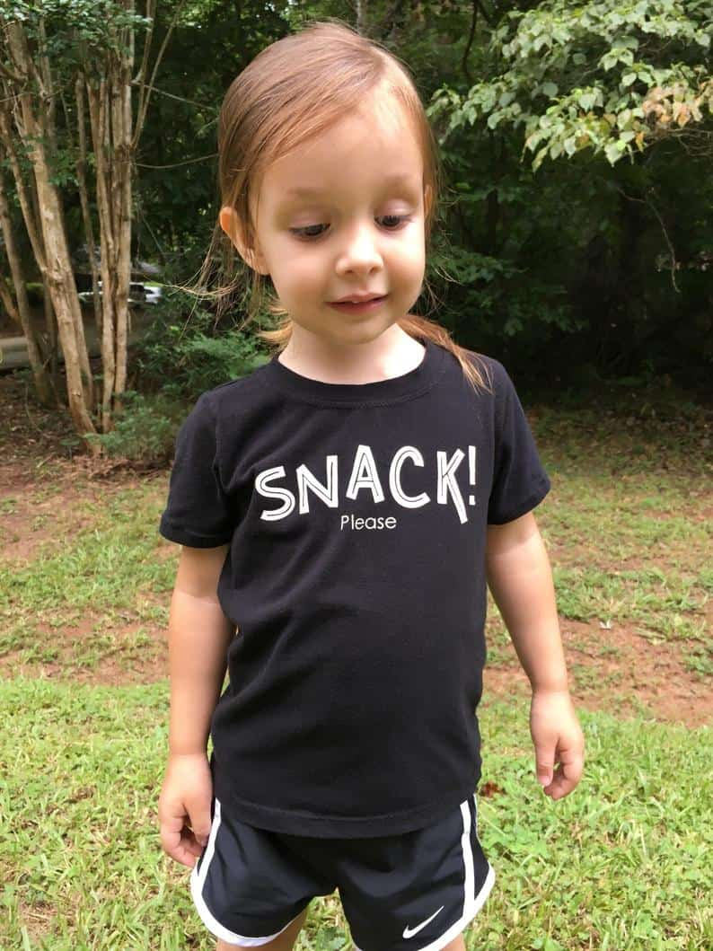 Toddler Shirt Snack Please