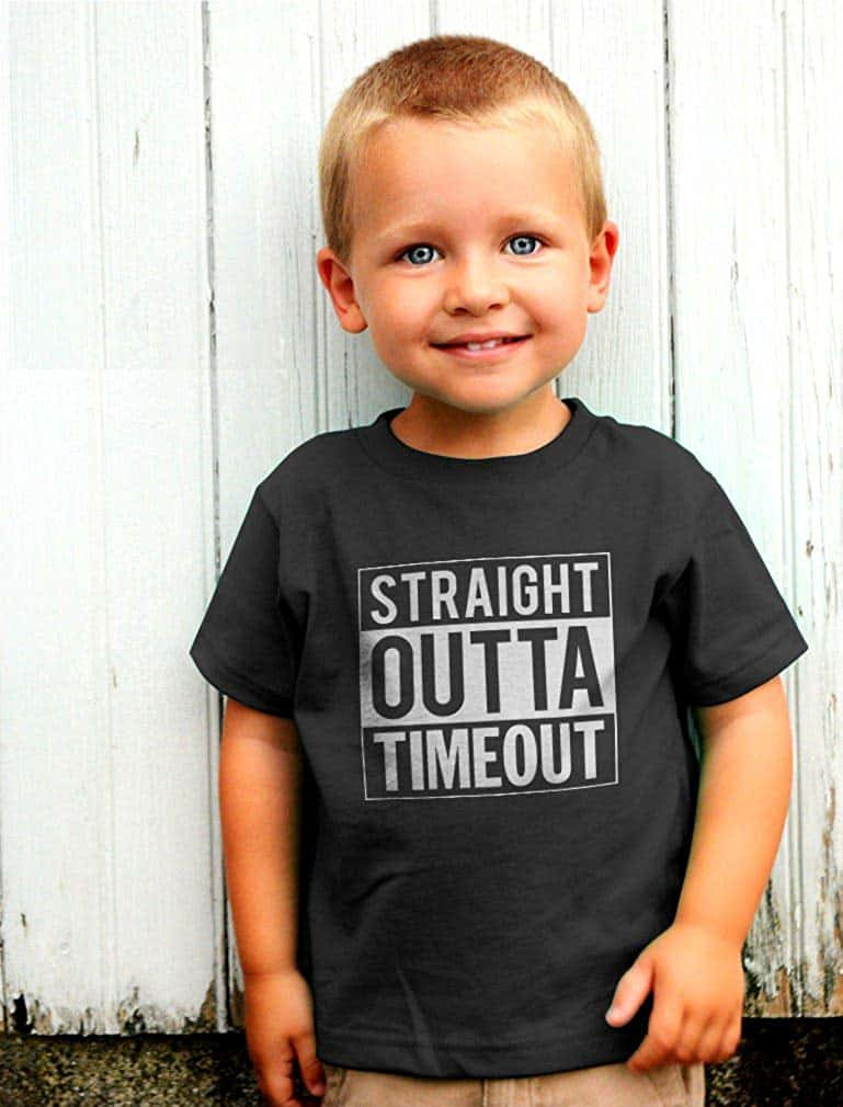Toddler Shirt Straight Outta Timeout