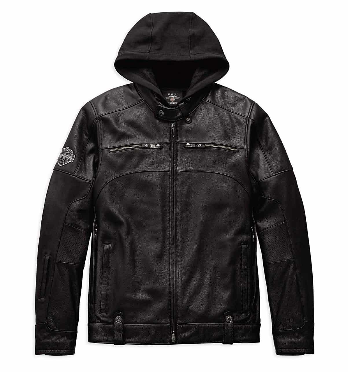 Men Hoodies Harley-Davidson Swingarm 3-in-1 Leather Jacket
