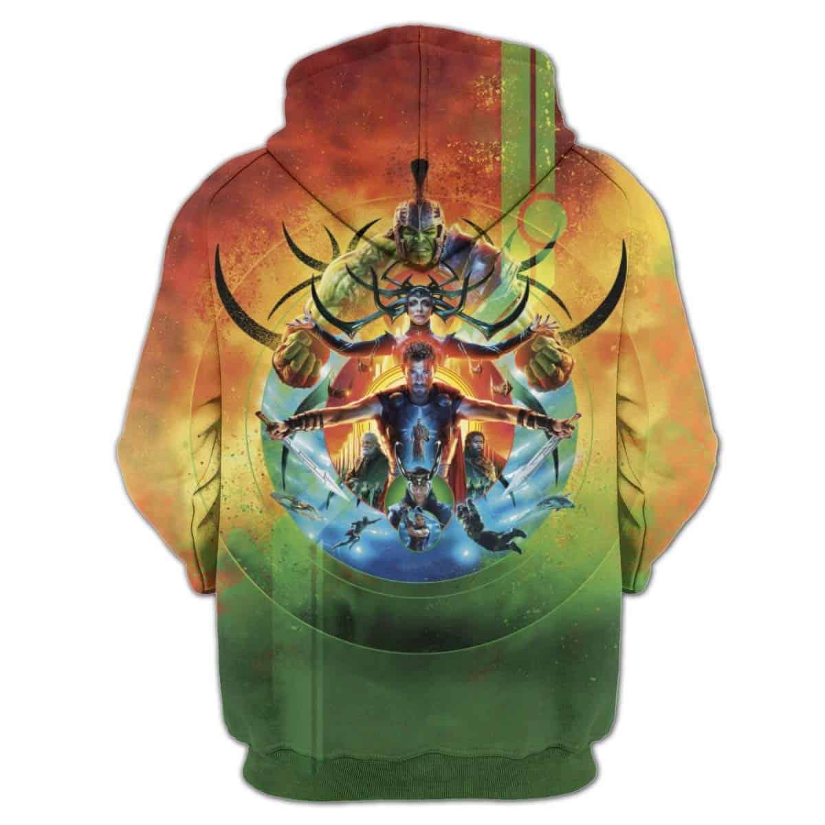 Men Hoodies Marvel Thor Ragnarok Sweatshirt
