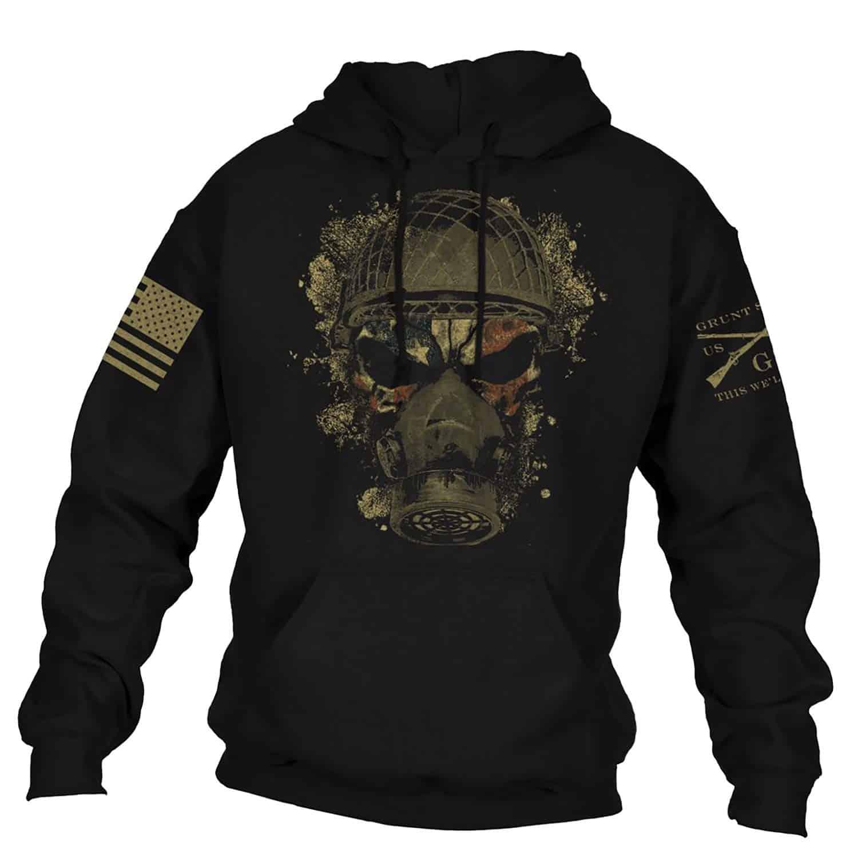 Men Hoodies & Sweatshirts Grunt Style American Skull Soldier Chemical Reaper