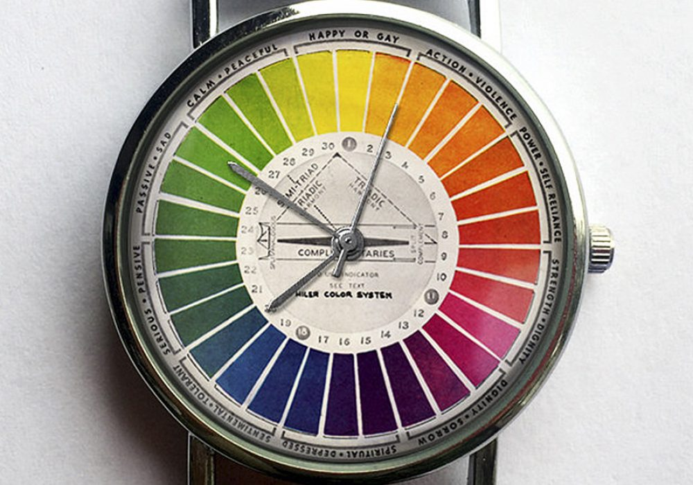 10 North Creative Vintage Color Wheel Watch Wrist Watch