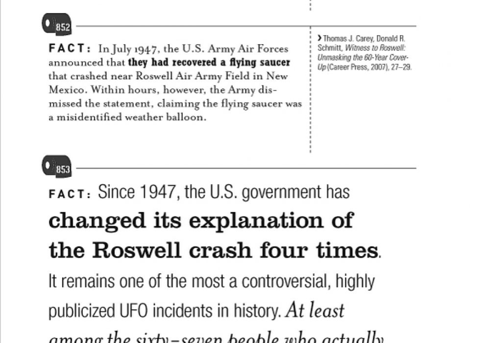 1001 Facts that Will Scare the Shit Out of You The Ultimate Bathroom Reader Roswell Crash