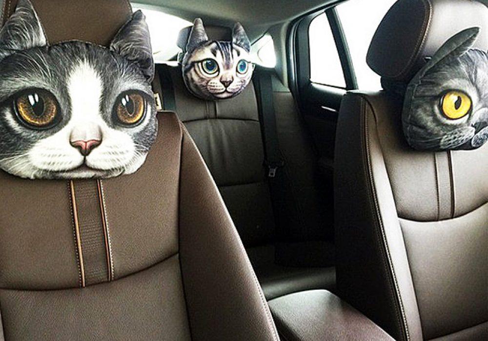 3D Cat Headrest Pillow Gift Idea For Her