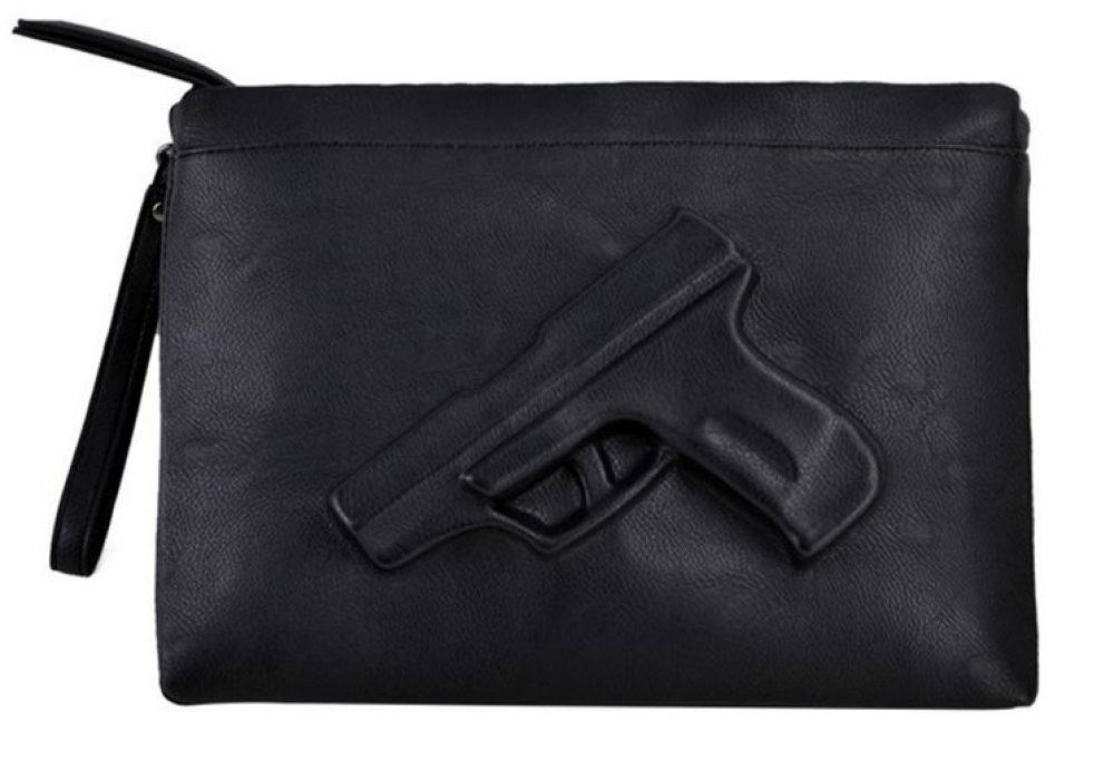 3D Gun Handbag Novelty Bag