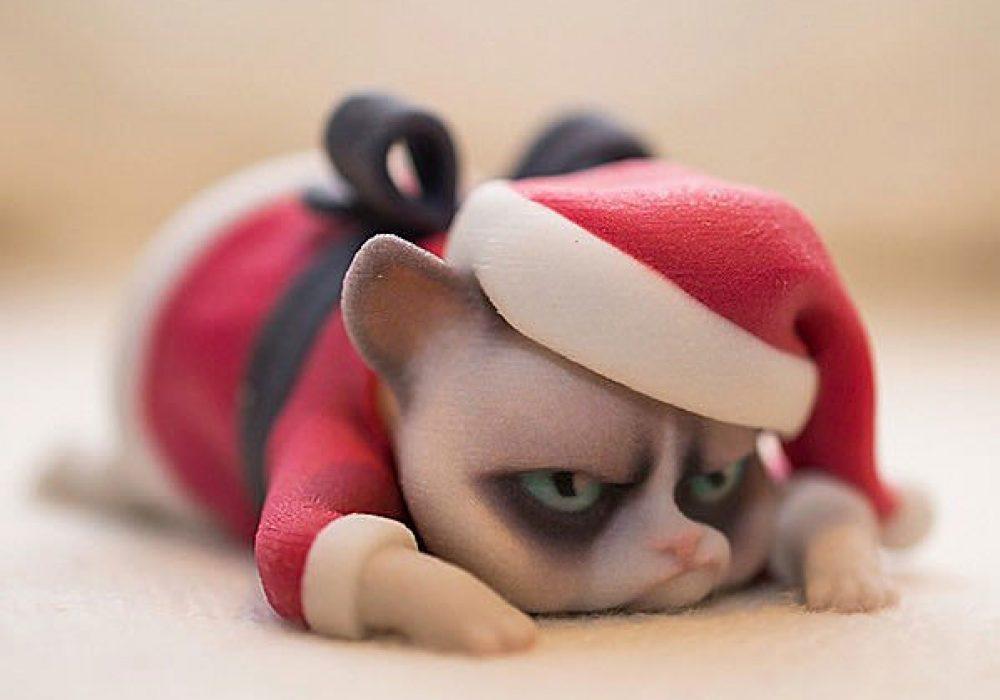 3D Printed Luxuray Grumpy Cat Christmas Edition Buy Internet Meme