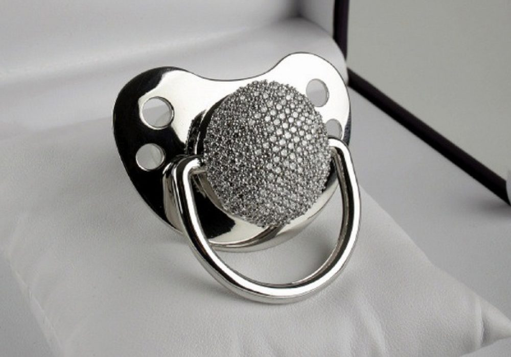 3ct Diamond Pacifier Luxury Baby Items to Buy