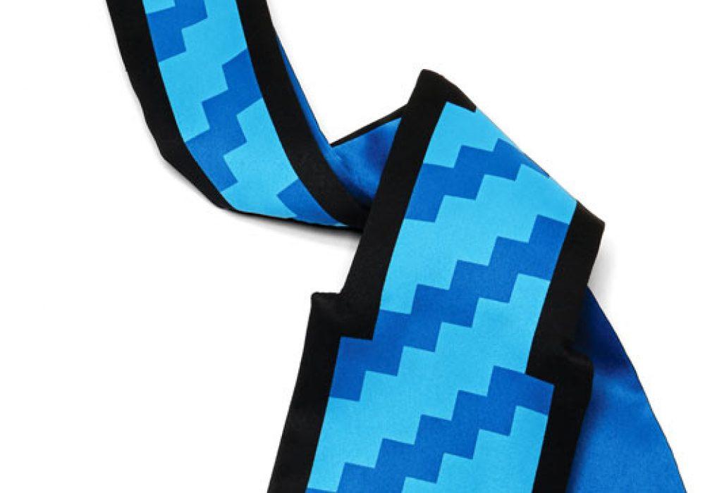8 Bit Pixel Tie Blue Twirl
