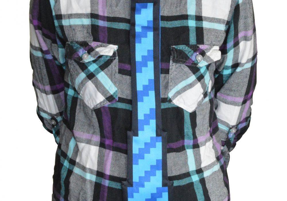 8 Bit Pixel Tie Blue
