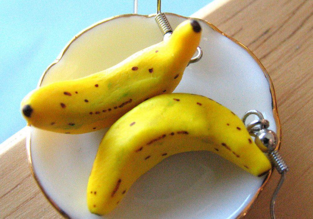 A Little Awesome Banana Earrings Food Fashion