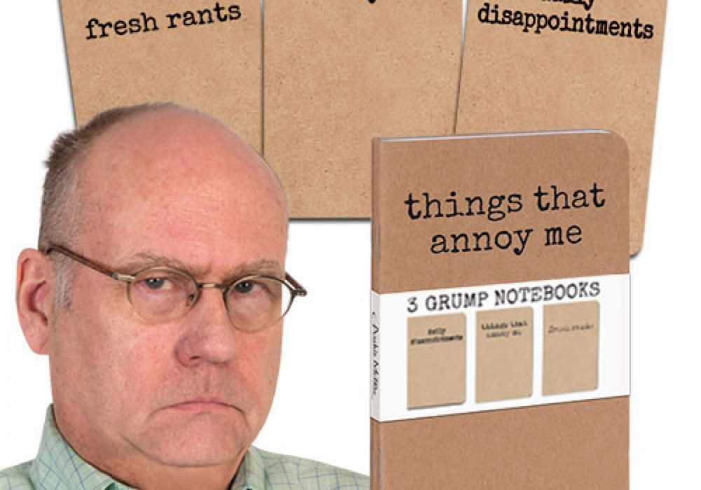 Accoutrements Things That Annoy Me 3 Grump Notebooks Old Man