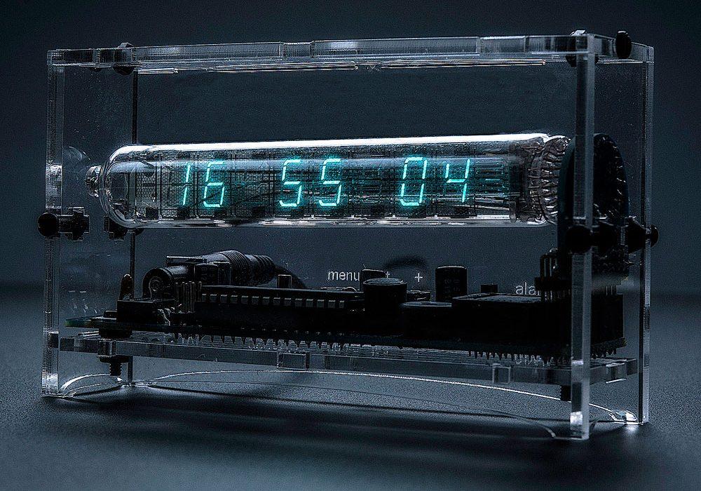 Adafruit Ice Tube Clock Kit Cool Geek Gift Idea to Buy