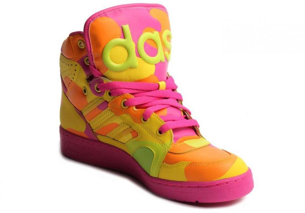 Adidas Mens Jeremy Scott Neon Camo Buy Cool Sneakers