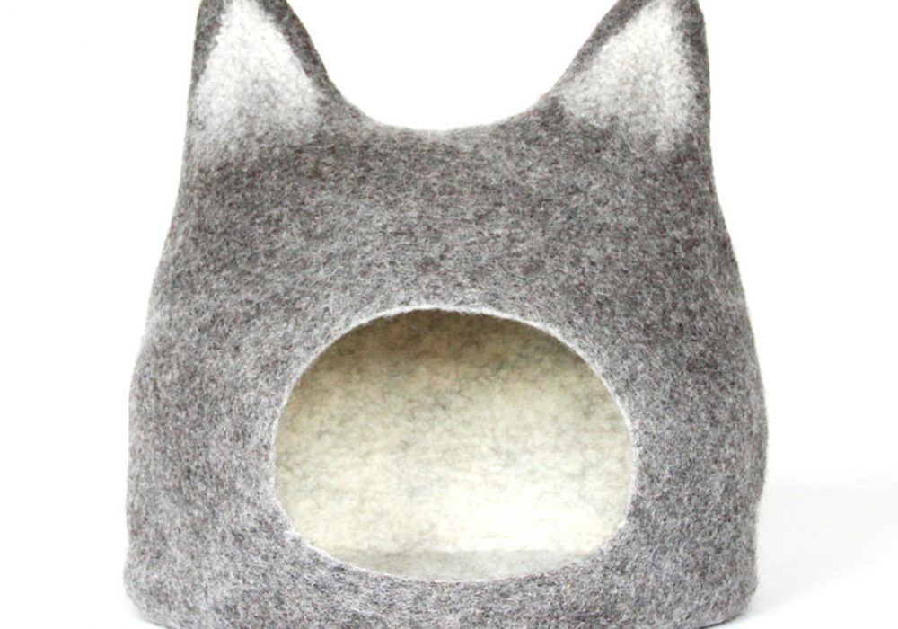Agnes Felt Cat Cave Handmade Felted Wool