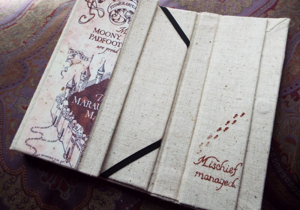 An Enchanted Fate Harry Potter Marauders Map Tablet Cover Geeky Gift