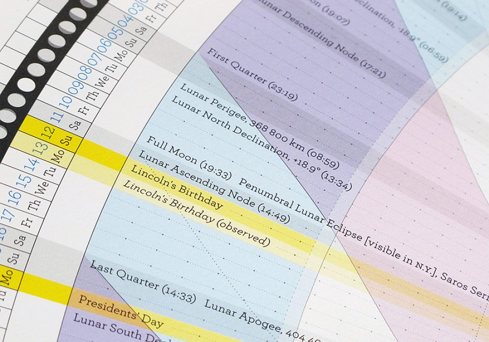 Anagraphic Anaptár Lunar Cycle Infographics Offset Print