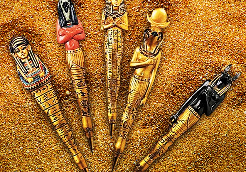 ancient-egyptian-sculptures-collectible-pens-office-supplies