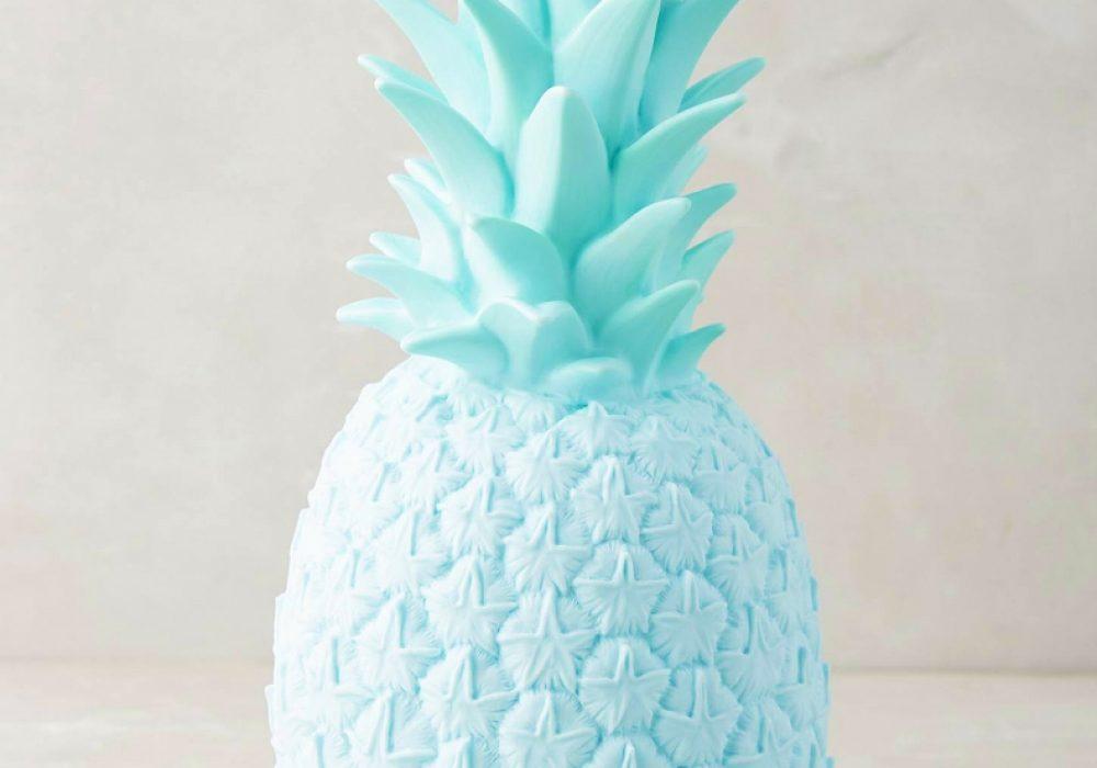 Anthropologie-Pineapple-Light-Trendy-Molded-Vinyl