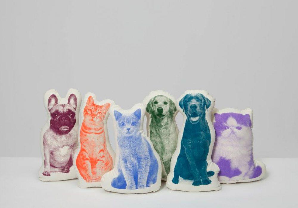 Areaware Fauna Cushion Labrador Victorian Shaped Pillows to Buy