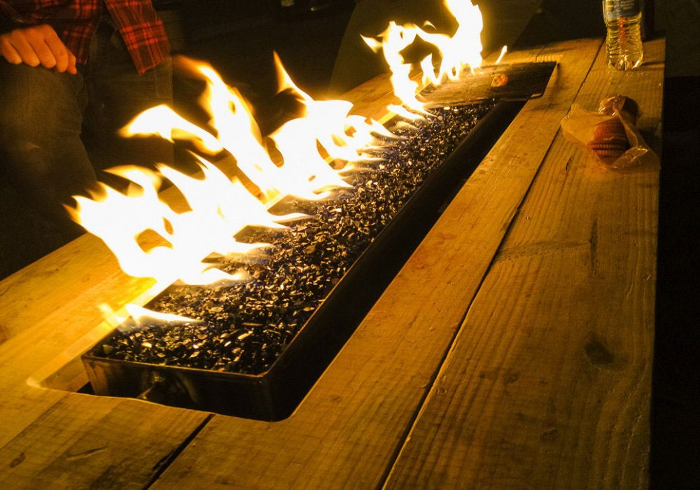 Arson for Hire Fire Pit Picnic Table Cool Backyard Furniture