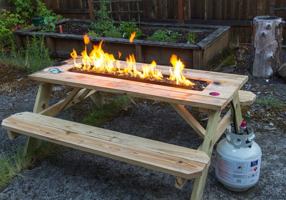 Arson for Hire Fire Pit Picnic Table Patio Furniture to Buy