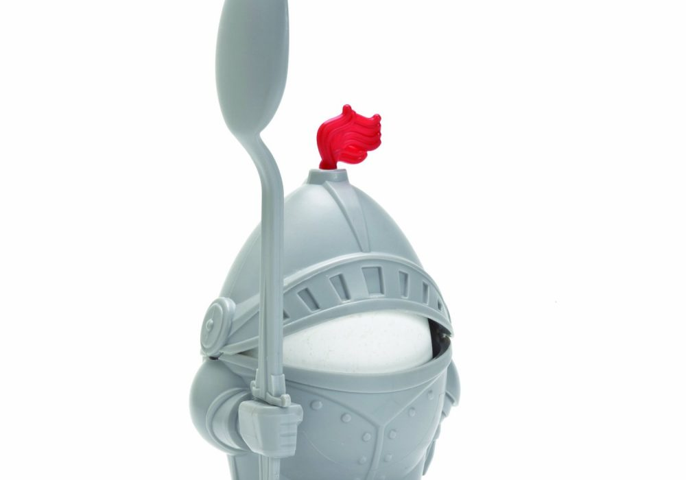 Arthur Boiled Egg Cup Holder with Eating Spoon Knight in Shining Armour