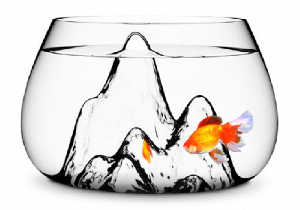 Aruliden Glasscape Fishbowl Glass Mountain