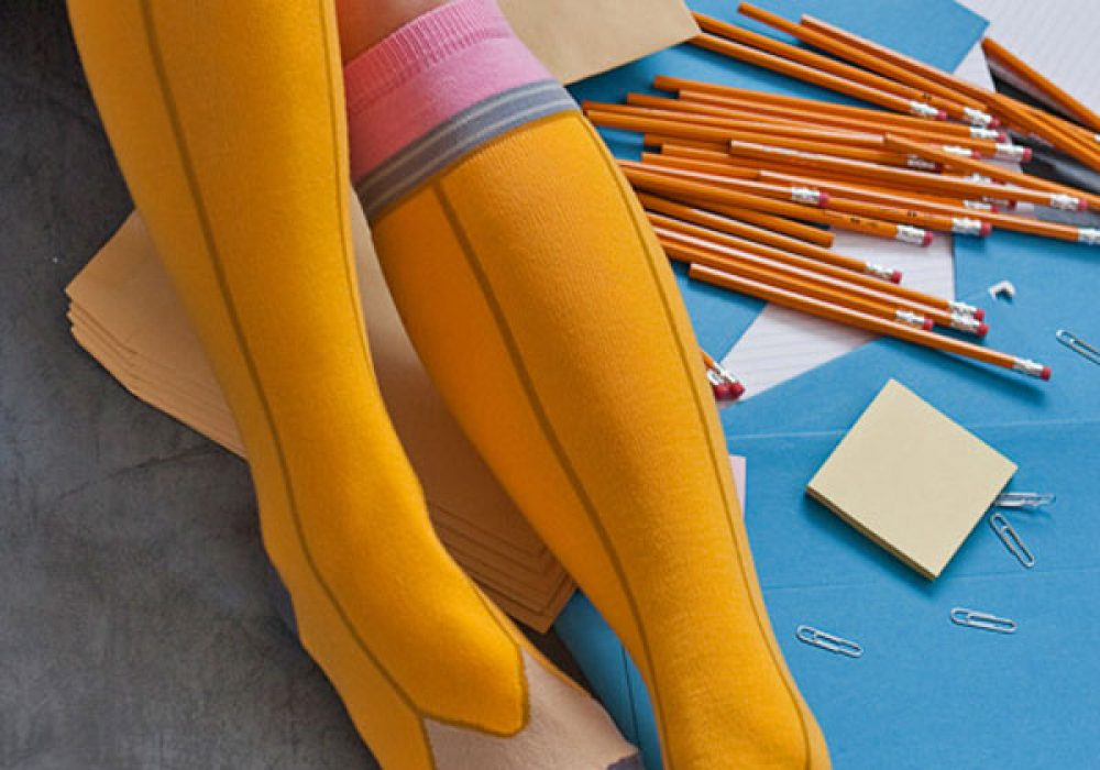 Ashi Dashi Pencil Knee High Socks Sexy Geek Wear to Buy Her
