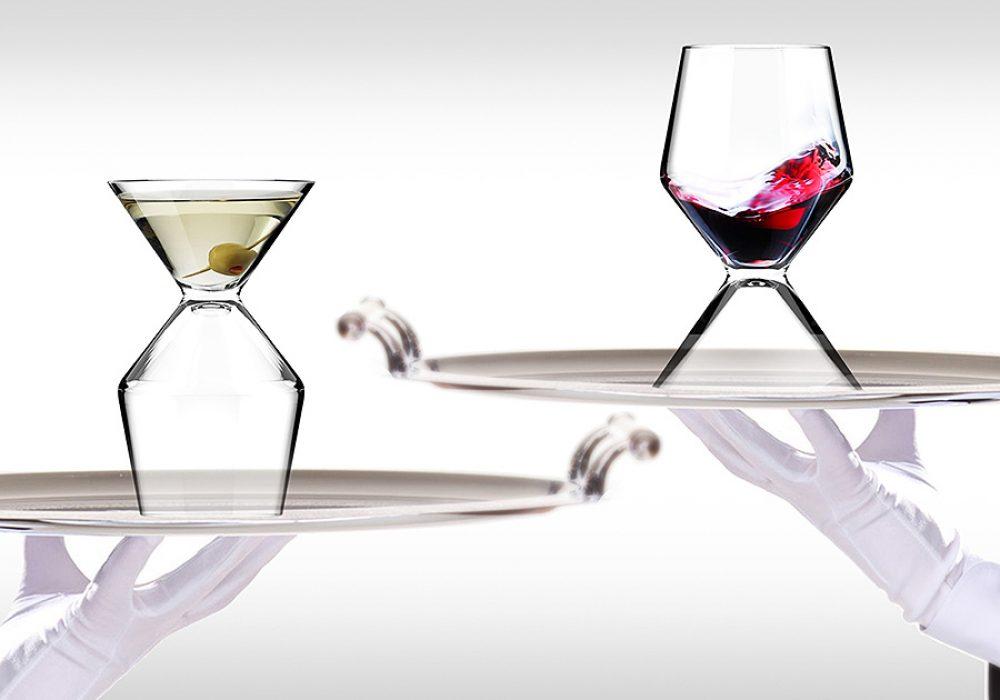 Asobu Vino Tini Wine and Martini Glass Drinkware Product